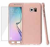 Eiroo Protect Fit Samsung Galaxy S6 Edge 360 Derece Koruma Rose Gold Kılıf