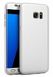 Eiroo Protect Fit Samsung Galaxy S6 Edge 360 Derece Koruma Silver Rubber Kılıf