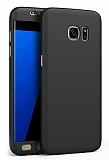 Eiroo Protect Fit Samsung Galaxy S6 Edge 360 Derece Koruma Siyah Rubber Kılıf