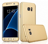 Eiroo Protect Fit Samsung Galaxy S7 Edge 360 Derece Koruma Gold Rubber Kılıf
