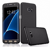 Eiroo Protect Fit Samsung Galaxy S7 Edge 360 Derece Koruma Siyah Kılıf