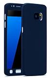 Eiroo Protect Fit Samsung Galaxy S7 Edge 360 Derece Koruma Lacivert Rubber Kılıf