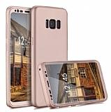 Zore GKK Ays Samsung Galaxy S8 360 Derece Koruma Rose Gold Rubber Kılıf