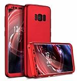 Eiroo Protect Fit Samsung Galaxy S8 360 Derece Koruma Kırmızı Rubber Kılıf