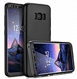 Eiroo Protect Fit Samsung Galaxy S8 360 Derece Koruma Siyah Rubber Kılıf