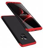 Eiroo Protect Fit Samsung Galaxy S9 360 Derece Koruma Siyah-Kırmızı Rubber Kılıf