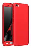 Eiroo Protect Fit Xiaomi Mi 5 360 Derece Koruma Kırmızı Rubber Kılıf