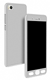 Eiroo Protect Fit Xiaomi Mi 5s 360 Derece Silver Beyaz Rubber Kılıf