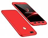 Eiroo Protect Fit Xiaomi Mi 5X / Mi A1 360 Derece Koruma Kırmızı Rubber Kılıf