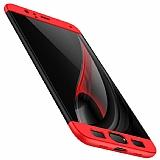 Eiroo Protect Fit Xiaomi Mi 6 360 Derece Koruma Siyah-Kırmızı Rubber Kılıf