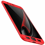 Eiroo Protect Fit Xiaomi Mi 6 360 Derece Koruma Kırmızı Rubber Kılıf