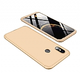 Eiroo Protect Fit Xiaomi Mi 8 360 Derece Koruma Gold Rubber Kılıf