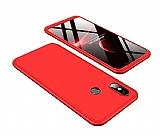 Eiroo Protect Fit Xiaomi Mi 8SE 360 Derece Koruma Kırmızı Rubber Kılıf