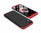 Eiroo Protect Fit Xiaomi Mi A2 / Mi 6X 360 Derece Koruma Siyah-Kırmızı Rubber Kılıf