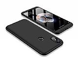 Eiroo Protect Fit Xiaomi Mi A2 / Mi 6X 360 Derece Koruma Siyah Rubber Kılıf