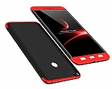 Eiroo Protect Fit Xiaomi Mi Max 2 360 Derece Koruma Siyah-Kırmızı Rubber Kılıf