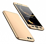 Eiroo Protect Fit Xiaomi Mi Note 3 360 Derece Koruma Gold Rubber Kılıf