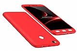 Eiroo Protect Fit Xiaomi Redmi 4X 360 Derece Koruma Kırmızı Rubber Kılıf
