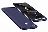 Eiroo Protect Fit Xiaomi Redmi 4X 360 Derece Koruma Lacivert Rubber Kılıf