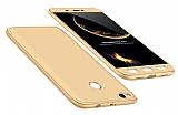 Eiroo Protect Fit Xiaomi Redmi 4X 360 Derece Koruma Gold Rubber Kılıf