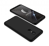 Eiroo Protect Fit Xiaomi Redmi 5 360 Derece Koruma Siyah Rubber Kılıf