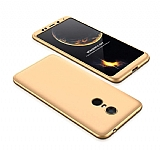 Eiroo Protect Fit Xiaomi Redmi 5 360 Derece Koruma Gold Rubber Kılıf