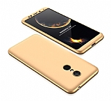 Eiroo Protect Fit Xiaomi Redmi 5 Plus 360 Derece Koruma Gold Rubber Kılıf