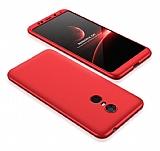 Eiroo Protect Fit Xiaomi Redmi 5 Plus 360 Derece Koruma Kırmızı Rubber Kılıf