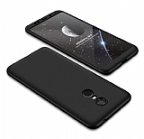 Eiroo Protect Fit Xiaomi Redmi 5 Plus 360 Derece Koruma Siyah Rubber Kılıf