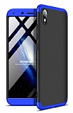 Eiroo Protect Fit Xiaomi Redmi 7A 360 Derece Koruma Lacivert-Siyah Rubber Kılıf