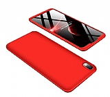 Eiroo Protect Fit Xiaomi Redmi 7A 360 Derece Koruma Kırmızı Rubber Kılıf