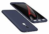 Eiroo Protect Fit Xiaomi Redmi Note 4 / Redmi Note 4x 360 Derece Koruma Lacivert Rubber Kılıf
