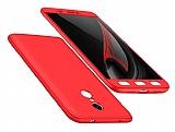 Eiroo Protect Fit Xiaomi Redmi Note 4 / Redmi Note 4x 360 Derece Koruma Kırmızı Rubber Kılıf
