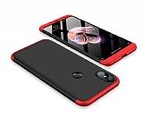 Eiroo Protect Fit Xiaomi Redmi Note 5 Pro 360 Derece Koruma Siyah-Kırmızı Rubber Kılıf