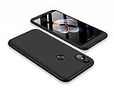 Eiroo Protect Fit Xiaomi Redmi Note 5 Pro 360 Derece Koruma Siyah Rubber Kılıf