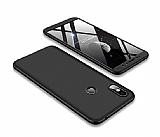 Eiroo Protect Fit Xiaomi Redmi S2 360 Derece Koruma Siyah Rubber Kılıf