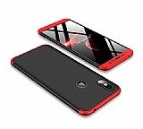 Eiroo Protect Fit Xiaomi Redmi S2 360 Derece Koruma Kırmızı-Siyah Rubber Kılıf