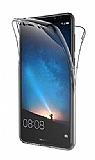 Eiroo Protection Huawei Mate 10 Pro 360 Derece Koruma Şeffaf Silikon Kılıf