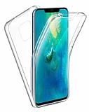 Eiroo Protection Huawei Mate 30 Pro 360 Derece Koruma Şeffaf Silikon Kılıf