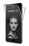 Eiroo Protection Huawei P10 Plus 360 Derece Koruma Şeffaf Silikon Kılıf