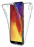 Eiroo Protection Huawei Y7 Prime 2019 360 Derece Koruma Şeffaf Silikon Kılıf