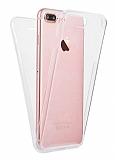 Eiroo Protection iPhone 7 Plus / 8 Plus 360 Derece Koruma Şeffaf Silikon Kılıf
