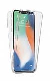 Eiroo Protection iPhone XS Max 360 Derece Koruma Şeffaf Silikon Kılıf