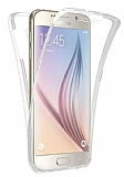 Eiroo Protection Samsung Galaxy A3 2017 360 Derece Koruma Şeffaf Silikon Kılıf
