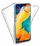 Eiroo Protection Samsung Galaxy A30 360 Derece Koruma Şeffaf Silikon Kılıf