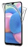 Eiroo Protection Samsung Galaxy A30S 360 Derece Koruma Şeffaf Silikon Kılıf