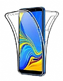 Eiroo Protection Samsung Galaxy A7 2018 360 Derece Koruma Şeffaf Silikon Kılıf