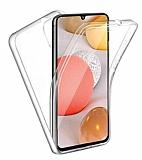 Eiroo Protection Samsung Galaxy A72 360 Derece Koruma Şeffaf Silikon Kılıf