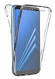 Eiroo Protection Samsung Galaxy A8 Plus 2018 360 Derece Koruma Şeffaf Silikon Kılıf