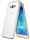 Eiroo Protection Samsung Galaxy A8 360 Derece Koruma Şeffaf Silikon Kılıf